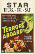 """Movie Posters:Mystery, Terror Aboard (Paramount, 1933). Window Card (14"""" X 22""""). When an ocean liner is found drifting with everyone aboard murdere..."""