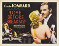 "Movie Posters:Comedy, Love Before Breakfast (Universal, 1936). Half Sheet (22"" X 28"").Carole Lombard carved a niche for herself in the cinematic ..."