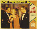 "Movie Posters:Romance, Man of the World (Paramount, 1931). Lobby Card (11"" X 14""). Reallife couple William Powell and Carole Lombard are shown on ..."