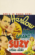 "Movie Posters:Drama, Suzy (MGM, 1936). Window Card (14"" X 22""). The only film to pairJean Harlow with Cary Grant, this historical romance set ag..."