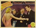 "Movie Posters:Romance, Personal Property (MGM, 1937). Lobby Cards (2) (11"" X 14""). Jean Harlow and Robert Taylor both appear in these lobbies from ... (Total: 2 Item)"