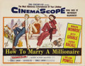 "Movie Posters:Comedy, How to Marry a Millionaire (20th Century Fox, 1953). Title LobbyCard (11"" X 14""). Marilyn Monroe, Betty Grable and Lauren B..."