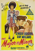 "Movie Posters:Comedy, The Major and the Minor (Paramount, 1942). Australian One Sheet (27"" X 40""). This unforgettable comedy, the first directing ..."