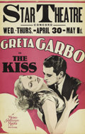 "Movie Posters:Drama, The Kiss (MGM, 1929). Window Card (14"" X 22""). This holds thedistinction of being Greta Garbo's and MGM's final feature sil..."