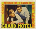 """Movie Posters:Drama, Grand Hotel (MGM, 1932). Lobby Card (11"""" X 14""""). This film won the Best Picture Oscar the year of its release, and was a tre..."""