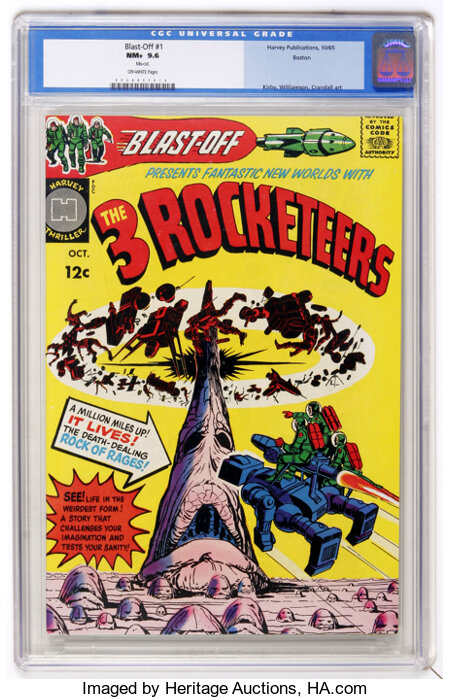 Blast-Off #1 Boston pedigree (Harvey, 1965) CGC NM+ 9.6 Off-white pages....