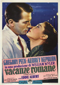 "Movie Posters:Romance, Roman Holiday (Paramount, 1953). Italian 2 - Folio (39"" X 55"").Originally intended to be a Frank Capra film starring Cary G..."