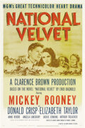 """Movie Posters:Drama, National Velvet (MGM, 1944). One Sheet (27"""" X 41""""). ElizabethTaylor had her first starring role at eleven years old in this..."""