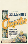 "Movie Posters:Drama, Cleopatra (Paramount, 1934). Window Card (14"" X 22""). The 1934Cleopatra was created with all the grandeur and opulence that..."