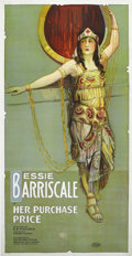 "Movie Posters:Drama, Her Purchase Price (Exhibitors Mutual Distributing Company, 1919).Three Sheet (41"" X 81""). Bessie Barriscale plays a woman,..."