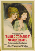 "Movie Posters:Adventure, Buried Treasure (Paramount, 1921). One Sheet (27"" X 41""). Thisgorgeous double image poster portrays two different images of..."