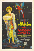 "Movie Posters:Drama, The Masked Angel (First Division Pictures, 1928). One Sheet (27"" X41"") Style A. This beautiful stone litho poster shows off..."