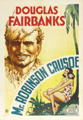"Movie Posters:Comedy, Mr. Robinson Crusoe (United Artists, 1932). One Sheet (27"" X 41""). Douglas Fairbanks' stunning portrait is featured on this ..."