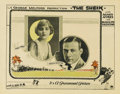 "Movie Posters:Romance, The Sheik (Paramount, 1921). Lobby Card (11"" X 14""). This carddisplays studio portraits of the two stars that appeared in t..."