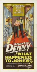 "Movie Posters:Comedy, What Happened to Jones (Universal, 1926). Three Sheet (41"" X 81""). Reginald Denny was one of the most popular screen comedia..."