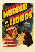 "Movie Posters:Mystery, Murder in the Clouds (Warner Brothers, 1934). One Sheet (27"" X41""). Hot-shot pilot 'Three Star' Halsey (Lyle Talbot) keeps ..."