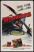 "Movie Posters:Adventure, The Warriors (Allied Artists, 1955). One Sheet (27"" X 41"").Adventure. Starring Errol Flynn, Joanne Dru, Peter Finch, Yvonne..."