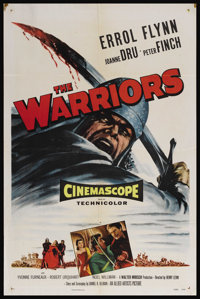 "The Warriors (Allied Artists, 1955). One Sheet (27"" X 41""). Adventure. Starring Errol Flynn, Joanne Dru, Peter..."