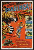 "Movie Posters:Documentary, Skabenga (Allied Artists, 1955). One Sheet (27"" X 41""). Documentary. Narrated by Michael Pate. Produced by George Michael. T..."