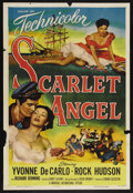 "Movie Posters:Adventure, Scarlet Angel (Universal International, 1952). One Sheet (27"" X41""). Adventure. Starring Yvonne De Carlo, Rock Hudson, Rich..."