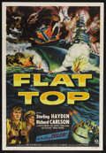 "Movie Posters:War, Flat Top (Monogram, 1952). One Sheet (27"" X 41""). War. StarringSterling Hayden, Richard Carlson, William Phipps, John Bromf..."