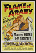 "Movie Posters:Adventure, Flame of Araby (Universal International, 1951). One Sheet (27"" X41""). Adventure. Starring Maureen O'Hara, Jeff Chandler, Ma..."