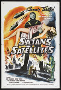 "Movie Posters:Science Fiction, Satan's Satellites (Republic, 1958). One Sheet (27"" X 41""). ScienceFiction. Starring Judd Holdren, Aline Towne, Wilson Wood..."