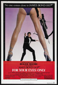 """Movie Posters:James Bond, For Your Eyes Only (United Artists, 1981). One Sheet (27"""" X 41"""").James Bond. Starring Roger Moore, Carole Bouquet, Topol, L..."""