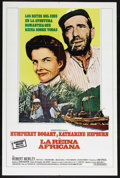 """Movie Posters:Adventure, The African Queen (United Artists, R-1960s). Spanish Language OneSheet (27"""" X 41""""). Romantic Adventure. Starring Humphrey B..."""