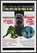 """Movie Posters:Science Fiction, Planet of the Apes/Beneath the Planet of the Apes Combo (20thCentury Fox, 1971). One Sheet (27"""" X 41""""). Science Fiction. Di..."""