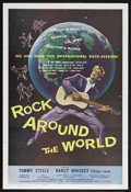 "Movie Posters:Rock and Roll, Rock Around the World (AIP, 1957). One Sheet (27"" X 41"").Biographical Drama. Also known as ""The Tommy Steele Story.""Starri..."