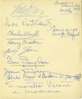 Movie/TV Memorabilia:Autographs and Signed Items, Signed Page from Clifton Webb's Guest Book, Including the Signatureof Andre Kostelanetz. This page from Webb's guest book h... (Total:1 Item)
