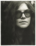 "Music Memorabilia:Photos, Janis Joplin Vintage Photo. A b&w 11"" x 14"" portrait of Joplinby Grant Jacobs, with his studio stamp on the back. In Excell..."