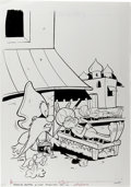 Original Comic Art:Covers, Yosemite Sam #80 Cover Original Art (Whitman, 1983)....