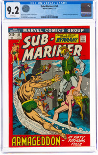 The Sub-Mariner #51 (Marvel, 1972) CGC NM- 9.2 White pages