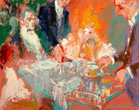 LeRoy Neiman (American, 1921-2012) Restaurant Scene, 1963 Oil on board 23-3/4 x 30 inches (60.3 x 76.2 cm) Signed an