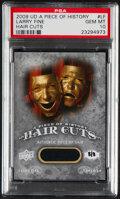 Non-Sport Cards:Singles (Post-1950), 2009 UD A Piece Of History Larry Fine (Hair Cuts) #LF PSA Gem Mint 10 - Hand Numbered 8/8....