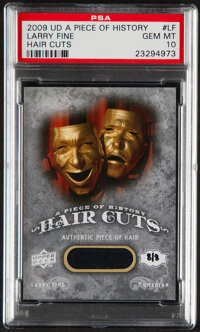 2009 UD A Piece Of History Larry Fine (Hair Cuts) #LF PSA Gem Mint 10 - Hand Numbered 8/8