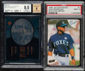 Baseball Cards:Lots, 1994 Action Packed & 1997 SPx Force Autograph Alex Rodriguez Graded Pair (2).... (Total: 2 items)