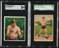 1910 T218 Mecca Unk Russell & T223 Dixie Queen Young Corbett SGC Graded Pair (2).... (Total: 2 items)