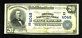 National Bank Notes:Maryland, Hagerstown, MD - $20 1902 Date Back Fr. 644 The Second NB Ch. #(E)4049. ...