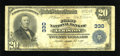National Bank Notes:Maine, Lewiston, ME - $20 1902 Plain Back Fr. 650 The First NB Ch. # 330. ...
