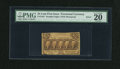 Fractional Currency:First Issue, Fr. 1281 25c Gutter Fold Error First Issue PMG Very Fine 20....