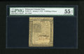 Colonial Notes:Delaware, Delaware January 1, 1776 2s/6d PMG About Uncirculated 55 EPQ....