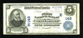 National Bank Notes:Pennsylvania, West Chester, PA - $5 1902 Plain Back Fr. 598 The First NB Ch. #(E)148. ...