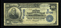 National Bank Notes:Pennsylvania, Braddock, PA - $10 1902 Date Back Fr. 616 The First NB Ch. #(E)2799. ...