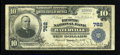 National Bank Notes:Maine, Waterville, ME - $10 1902 Plain Back Fr. 624 The Ticonic NB Ch. # 762. ...