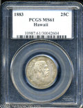 Coins of Hawaii: , 1883 Hawaii Quarter MS61 PCGS. ...
