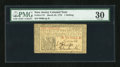 Colonial Notes:New Jersey, New Jersey March 25, 1776 1s PMG Very Fine 30....