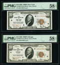 Small Size:Federal Reserve Bank Notes, Fr. 1860-B; G $10 1929 Federal Reserve Bank Notes. PMG Choice About Unc 58 EPQ.. ... (Total: 2 notes)